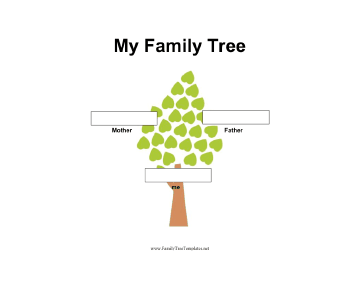 2 Generation Family Tree in Color Template