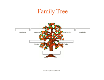 generation family tree in color template this three generation ...