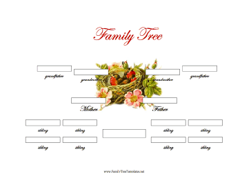generation family tree with siblings template this three generation ...