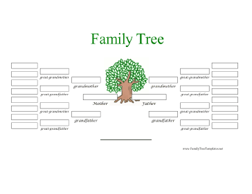 5 Generation Family Tree In Color Template