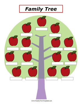apples family tree template apples hanging on a tree can be used as ...
