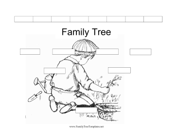 black and white family tree template this free printable family tree ...