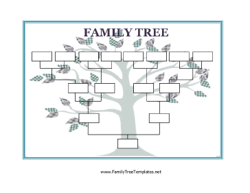 Blank family tree template for Free family tree template