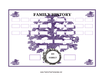family history tree template