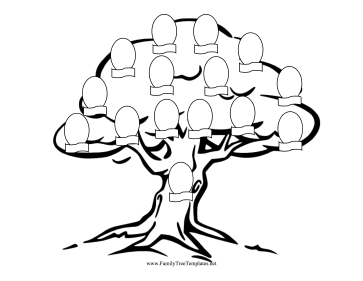 Blank Family Tree Coloring Page Coloring Pages