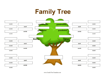 tree template this family tree is designed to include aunts uncles ...