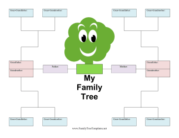 Kid family tree template for Picture of a family tree template
