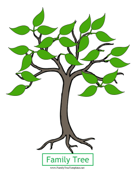 leaf family tree template names of each family member can be written ...