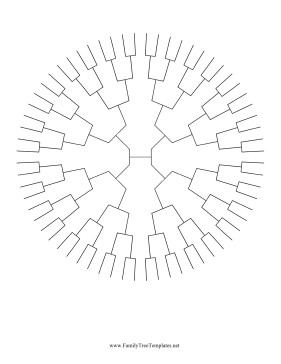 generation radial family tree template this circle family tree has 6 ...