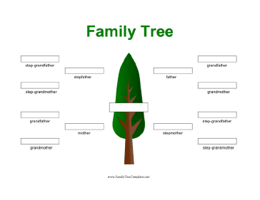 template for family tree with photos