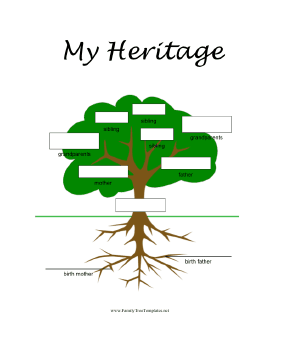 adoptive family tree template this full color printable family tree is ...