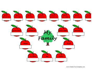 apple family tree template with this printable family tree kids fill ...