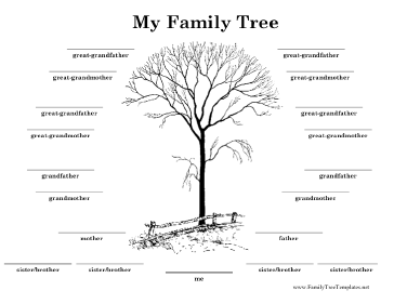 Family tree with lines template for Family tree templates with siblings