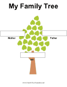 2 Generation Family Tree in Color