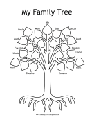 Colorable Family Tree