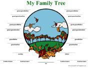 Family Tree with Lines in Color